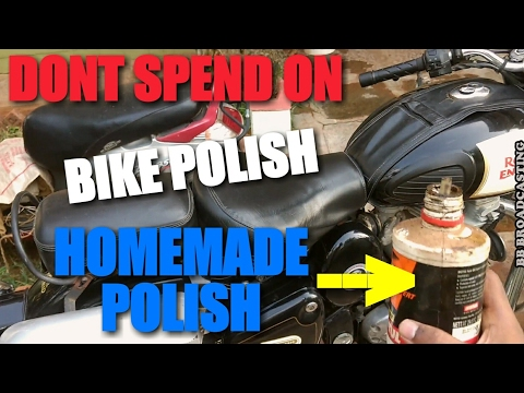 How to remove water spots without shine polish | How to lubricate Royal Enfield chain