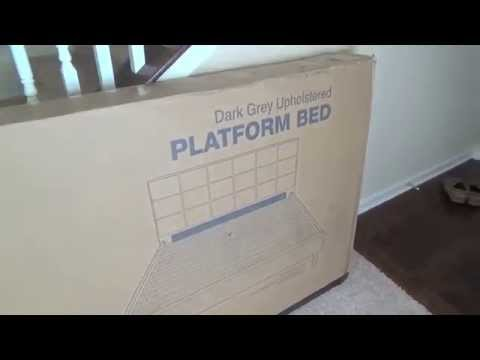 Zinus Sleep Revolution Platform Bed - Upholstered Queen Frame - Unboxing and Review