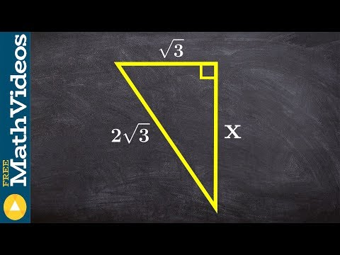 Find the missing side of a triangle using the pythagorean theorem
