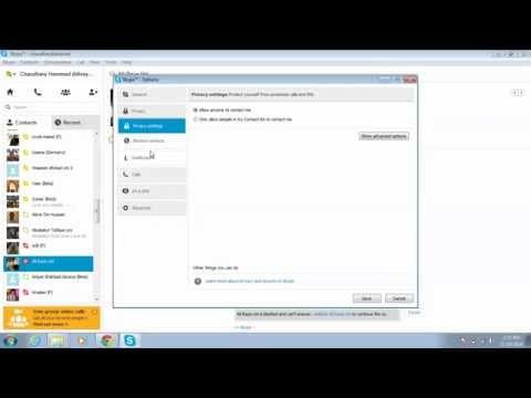 Block & Unblock Skype Contacts