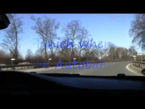German Autobahn - Trip from Munich to Amsterdam with BMW 3 series convertible