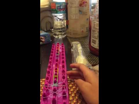 How to make a rainbow bridge rainbow loom bracelet