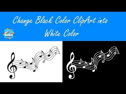 PicsArt Tutorial   How to Change Black Color ClipArt into White Color (Tips & Tricks)   PicsArtGuru