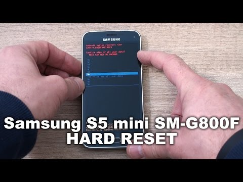 Samsung Galaxy S5 mini SM G800F hard reset