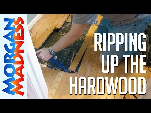 How to Tile a Bathroom Floor: Step 1- Remove Old Flooring | Morgan Madness