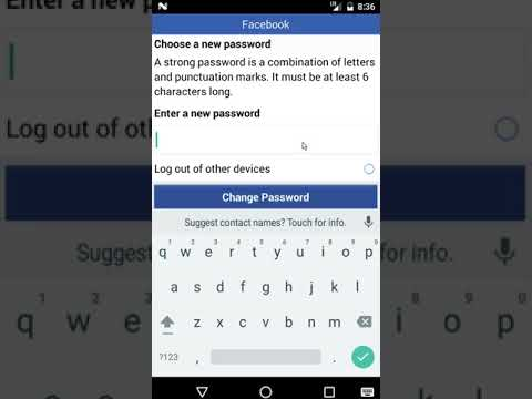 How to change facebook password without knowing current password