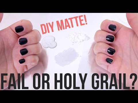 Beauty Hacks: Fail or Holy Grail? ♥ DIY Matte Top Coat | Ellko