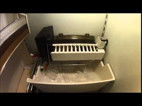 SubZero Icemaker Action Captured with GoPro Inside Freezer