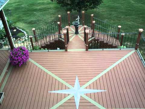 how to clean composite decking material