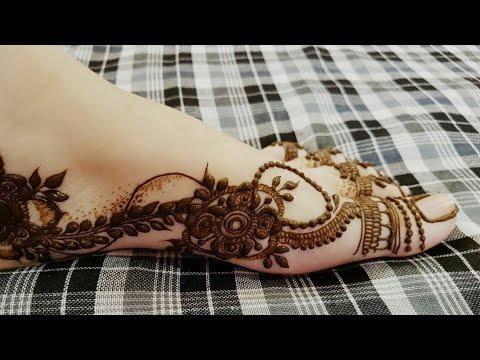 Dubai Style Henna Design For One Side Of Leg 2018 Heena Vahid P5kr5