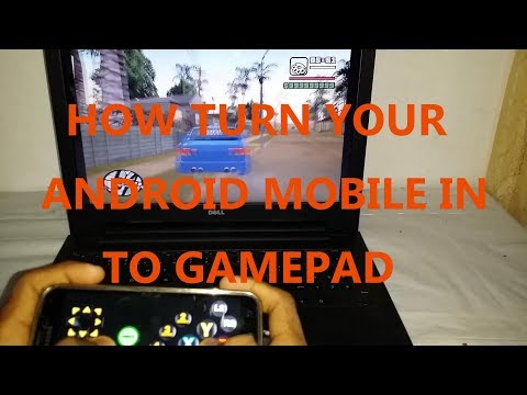 how use android phone as pc gamepad joystick without wifi or blutooth using usb cable