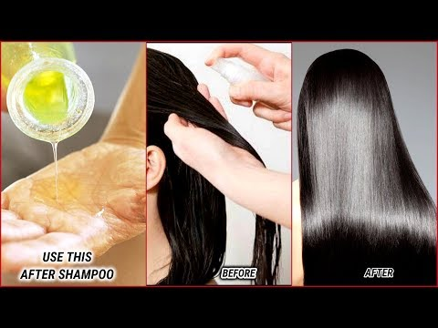 JUST USE THIS AFTER SHAMPOO AND GET SHINY, SMOOTH HAIR INSTANTLY