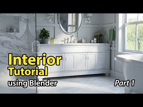 Blender Tutorial: Architectural Interior - Part 1 of 2