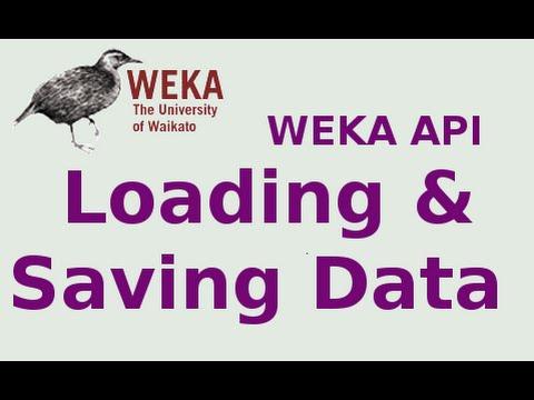 WEKA API 2/19: Loading and Saving Data
