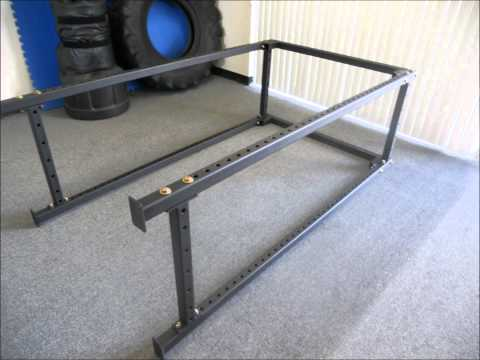2X2 POWER RACK-BAND PEGS-GREAT FOR HOME OR COMMERCIAL GYM-STRENGTH TRAINING EQUIPMENT FOR SALE