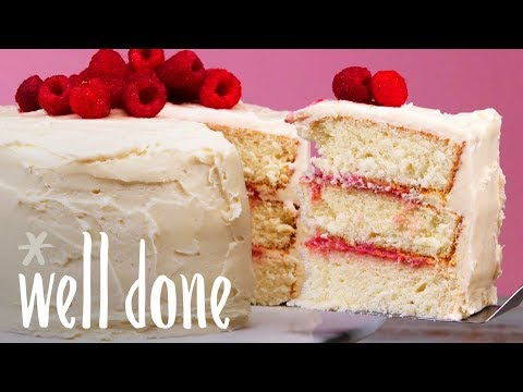 Vanilla Buttercream Frosted Cake With Raspberry Curd Filling | Recipe | Well Done
