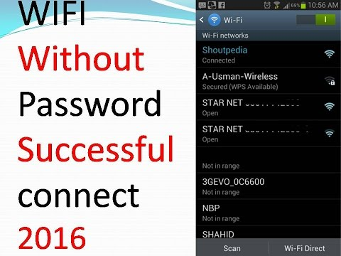 How To Connect WiFi Without Password - Successfully connect 2016