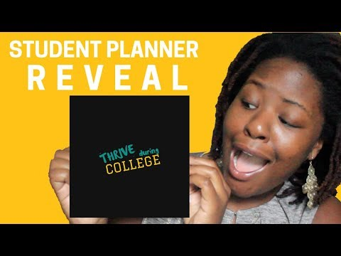 Thrive During College with THIS Student Planner (2017-2018)