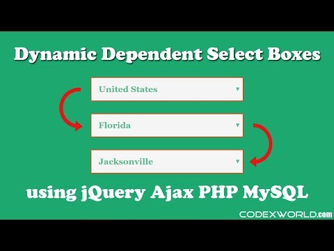 Dynamic Dependent Select Box using jQuery, Ajax and PHP