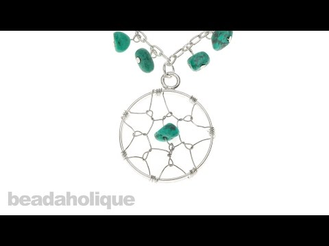 How to Make a Wire Wrapped Dream Catcher Open Frame Pendant