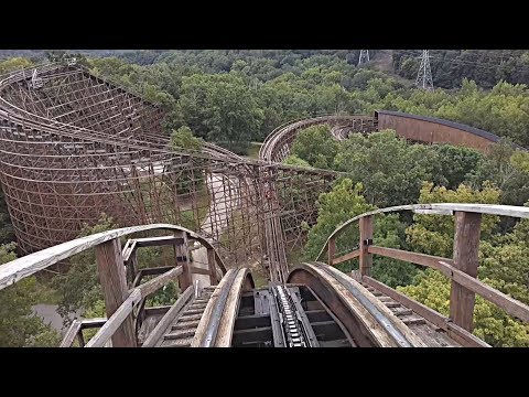 The Beast Wooden Roller Coaster (Front Seat HD POV) - Kings Island