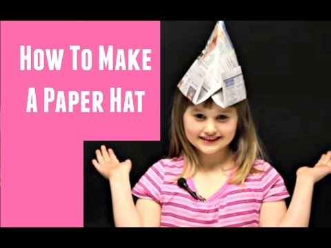 How To Make A Paper Hat | Craft | Jendi's Journal #throwback