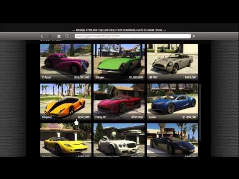 GTA 5 HOW TO BUY ALL SUPER CARS Z TYPE, BUGATTI VEYRON, CHEETAH,LAMBORGHINI LEGENDARY MOTOR SPORT