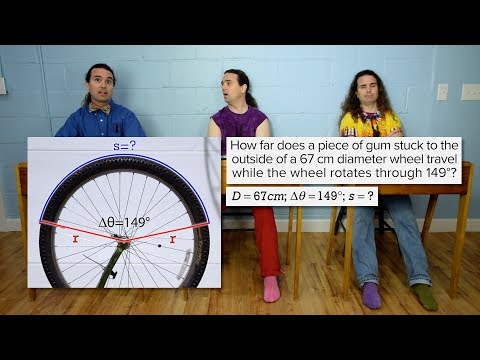 Introductory Arc Length Problem - Gum on a Bike Tire
