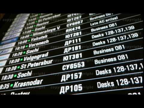 Timetable digital board at an airport