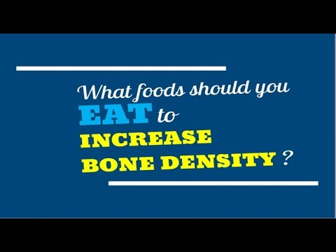 How to Increase Bone Density, NATURALLY !