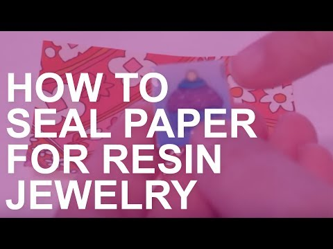 How to Seal Paper for Use in Epoxy Resin Jewelry