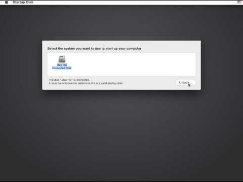 Reboot from FileVault 2 reset password