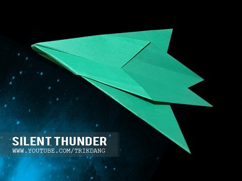 EASY PAPER AIRPLANE - How to make a paper airplane that FLIES FAST | Silent Thunder