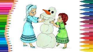 Dibujar Y Colorea Elsa Y Anna Frozen Dibujos Para Niños