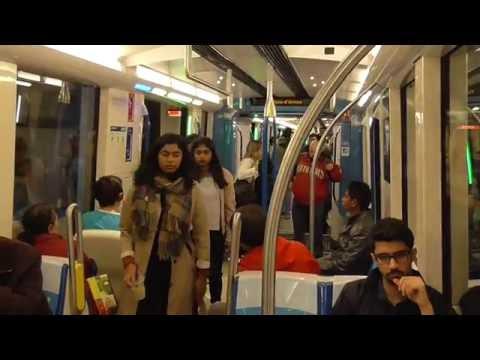 Riding the Montreal Metro MPM-10 Azur on the Orange Line
