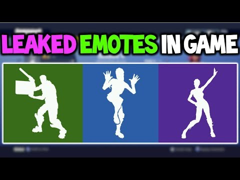 *NEW* Fortnite: SEASON 4 LEAKED EMOTES! *Zany, Star Power, Dip, and More* (In-Game Showcase)