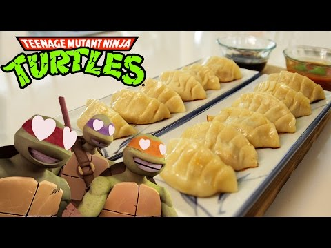 How to Make PIZZA GYOZA from Teenage Mutant Ninja Turtles, Feast of Fiction S4 Ep7