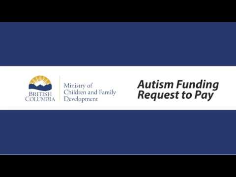 Autism Funding Program Request to Pay