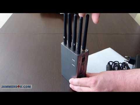 Disturbatore Jammer Pro 8W 8 bande GSM 3G 4G WiFi GPS LoJack 433 315Mhz