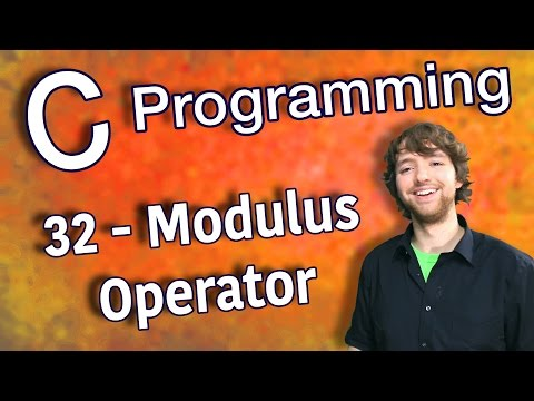C Programming Tutorial 32 - Modulus Operator
