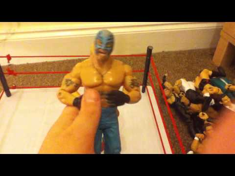 my homemade wwe action figure ring