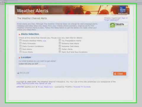 Creating Emergency Weather Email Alerts
