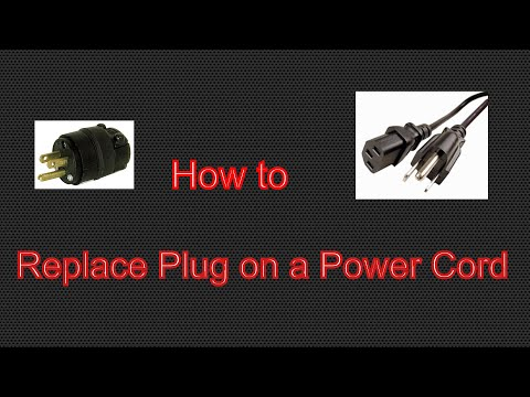 How to Replace 3 prong Plug on a Power Cord
