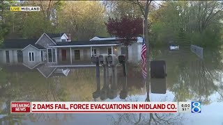 Thousands evacuated as river dams break in central Michigan