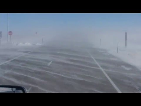 HOW TO drive Semi Truck in high winds, with low visibility in Colorado mountains