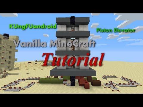 KUngFUandroid Minecraft 1 6 2 Tutorial Piston Tape Elevator