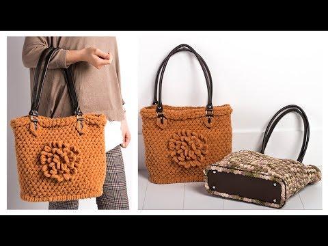 Alize Puffy ile Çanta Yapımı - Bag with Alize Puffy