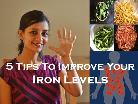 How to improve and increase your low iron levels: 5 simple tips