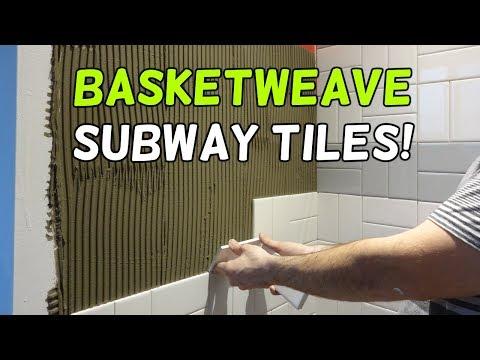 Installing Basketweave Subway Tiles!