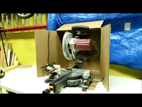 Cheapest  DIY Dust Collection for the Miter Saw